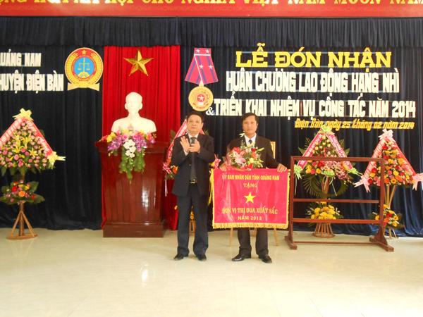 TAND huyện Điện Bàn nhận Cờ thi đua xuất sắc của UBND tỉnh Quảng Nam